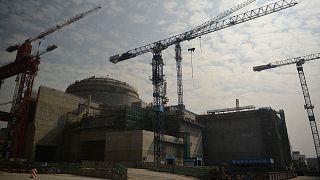 La centrale de Taishan, alors en travaux le 8 décembre 2012, dans la province du Guangdong.