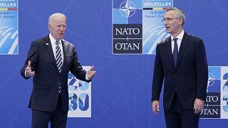 Le président américain et le secrétaire général de l'Otan
