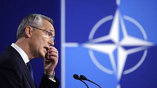 NATO Secretary General Jens Stoltenberg speaks during a media conference at a NATO summit in Brussels, Monday, June 14, 2021.