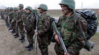 Türk askeri tarafından eğitilen Afgan askerler (arşiv)