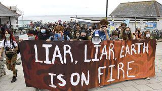 نشطاء يتظاهرون جنوب إنجلترا لأجل المناخ. 2021/06/11