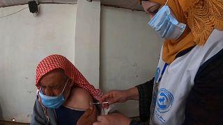 Vaccination at al-Tah camp