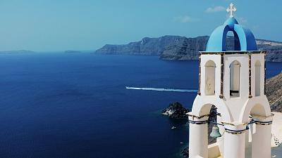 Santorini in Greece has been open to tourists since May this year