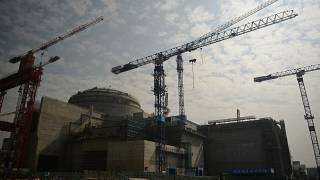 Sino-French Taishan Nuclear Power Station being built outside the city of Taishan in Guangdong province.