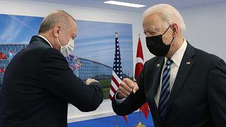 Cumhurbaşkanı Erdoğan ile ABD Başkanı Biden
