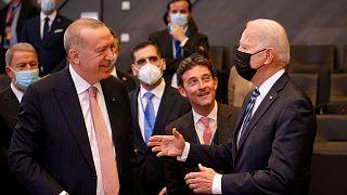 دیدار رجب طیب اردوغان و جو بایدن، در حاشیه نشست ناتو در بروکسل