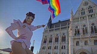 Manifestação contra a homofobia em Budapeste