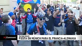 Los seguidores de los Bleus llegan a Múnich para el encuentro contra Alemania