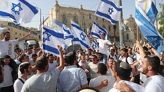 Kudüs'te mayıs ayındaki 'Kudüs Günü' kutlamaları kapsamında İsrailli milliyetçi gruplar bir araya geldi