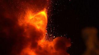 Mt. Etna erupts