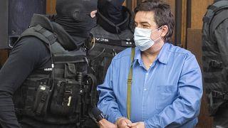 Defendant Marian Kocner arrives at the Supreme Court in Bratislava, Slovakia, Tuesday, June 15, 2021.
