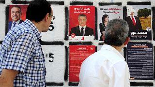 صورة نبيل القروي صاحب قناة نسمة الخاصة، خلال حملة الانتخابات الرئاسية في تونس. 2019/09/04