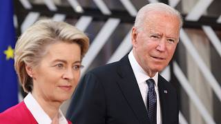 AB Komisyonu Başkanı Ursula von der Leyen ve ABD Başkanı Joe Biden