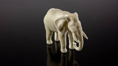 An elephant-friendly alternative to ivory, developed by TU Wien and Cubicure.
