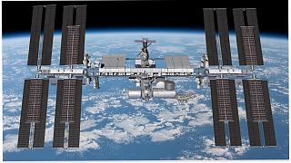 Six iROSA solar arrays in the planned configuration will augment the power drawn from the existing arrays on the International Space Station.