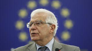 Josep Borrell Fontelles in Strasbourg eastern France, Tuesday 8 june , 2021.