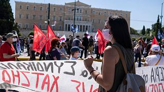The strike was affecting all modes of public transport, including ferries to and from the Greek islands.