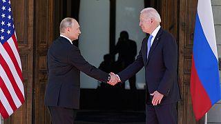 Biden e Putin em Genebra, na Suíça