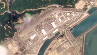 Májusi műholdas felvétel a tajsani atomerőműről
