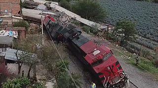 Descarrilamiento de un tren en México