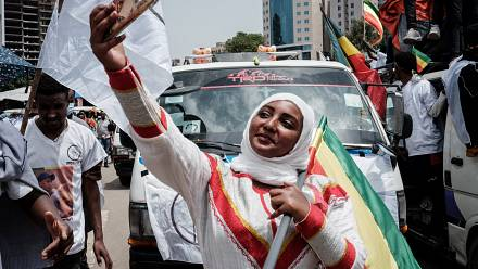 Ethiopian opposition Balderas party rally in capital ahead of vote