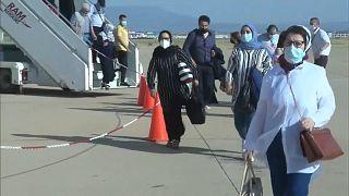 هبوط المسافرين في مطار وجدة أجدان