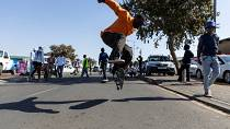 Soweto skateboarders speed down iconic street to celebrate Youth Day in South Africa
