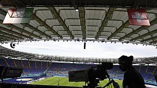 Olympiastadion in Rom for dem Spiel Italien gegen Schweiz