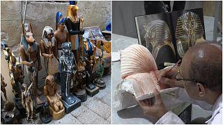 صناعة التذكارات المصرية واستعدادات لموسم السياحة في مصر