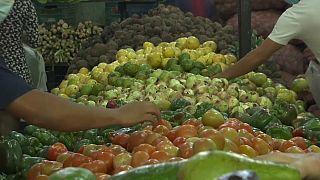 Puesto de frutas en Caracas