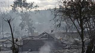 به آتش کشیده شدن روستایی در میانمار