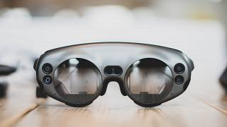 The Magic Leap 1 headset allowed doctors to visualise a 3D map of the inside of a patient's skull.