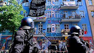 Besetztes Haus in der Rigaer Straße 94
