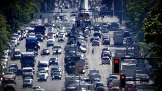 Verkehr auf dem Kaiserdamm in Berlin, 31.05.2021