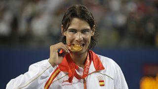 L'oro olimpico di Rafa Nadal in singolare nel 2008 a Pechino.