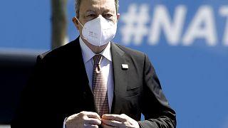 Il premier Mario Draghi al summit NATO di Bruxelles del 14 giugno