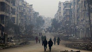 في أحد أحياء حلب - 2012