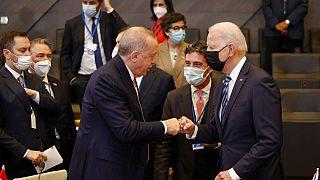 Cumhurbaşkanı Erdoğan ile ABD Başkanı Biden görüşmesi