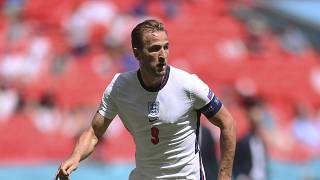 England's Harry Kane during the Euro 2020 championship group D match against Croatia, at Wembley Stadium in London, June 13, 2021.