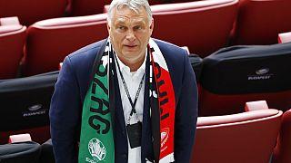 Orbán Viktor miniszterelnök a magyar-portugál meccsen