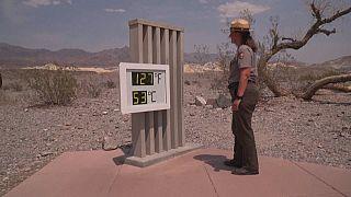 53 grados celsius en el valle de la Muerte