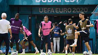 Séance d'entrainement pour l'équipe de France de football à la veille du match contre la Hongrie - Budapest, le 18/06/2021