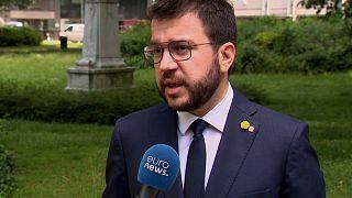 """Pere Aragonès said the pardons were a """"partial, incomplete solution""""."""