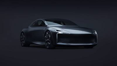 Conceptual image of the Hopium Machina hydrogen-powered car.