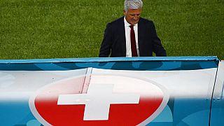 Vladimir Petkovic - Trainer der Nationalmannschaft der Schweiz - in Rom in Italien