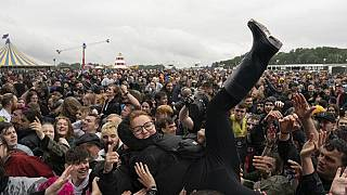 Metal fans most at Download Festival in England on Saturday after a two-year-long hiatus