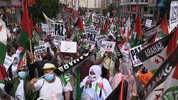 Marcha en Madrid para reclamar la libertad del Sáhara Occidental