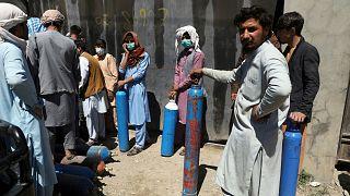 أزمة أسطوانات الأوكسجين في أفغانستان