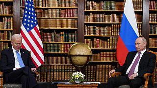 ABD Başkanı Joe Biden (solda), Rusya Devlet Başkanı Vladimir Putin (sağda)