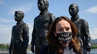 Stella Morris, Lebensgefährtin von Julian Assange,in Genf